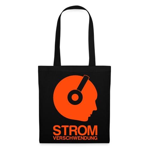 Tragetasche Stromverschwendung Logo - Stoffbeutel