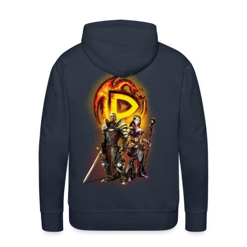 Drakensang  men's hoodie with Hero design - Männer Premium Hoodie