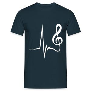 Heart Beat - Mannen T-shirt