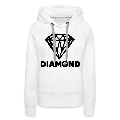 zwart,wit - Vrouwen Premium hoodie