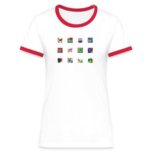 PCG-Icons - Frauen Kontrast-T-Shirt