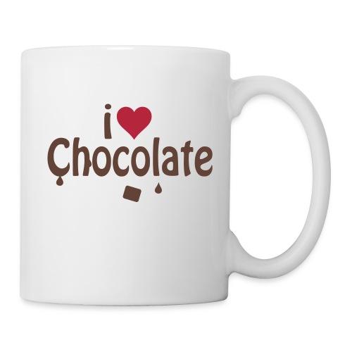tasse  j'aime le chocolat - Mug blanc