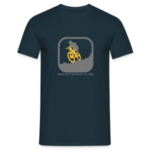 Downhill grau orange - Männer T-Shirt