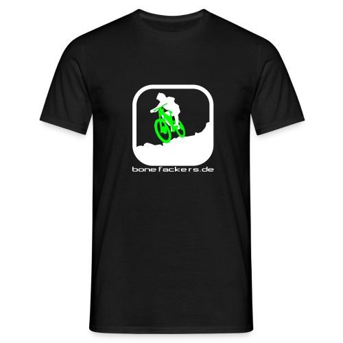 Downhill weiß grün - Männer T-Shirt
