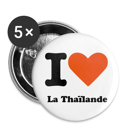 Pims j'♥ La Thaïlande ( lot de 5)  - Badge grand 56 mm