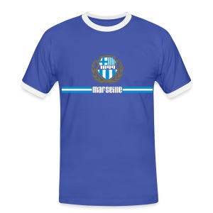T-shirt contrasté Homme - Ballon,Foot,Marseille,OM,Provence,Supporter,Ultra