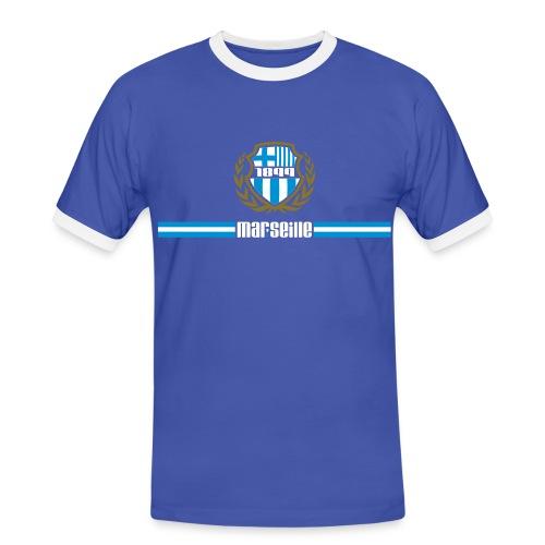 T-shirt contrasté Homme - Ultra,Supporter,Provence,OM,Marseille,Foot,Ballon