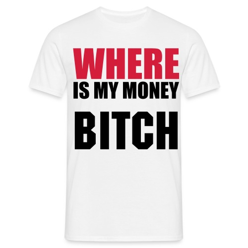 Where is money classic t-shirt - Koszulka męska