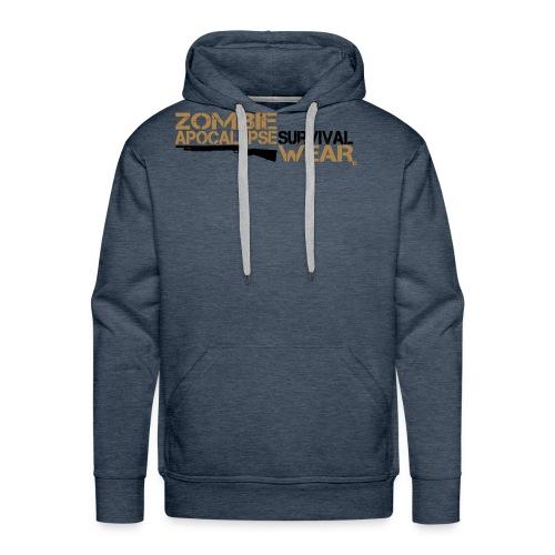 Z.A. Survival Wear Logo Brand Hoodie - brown - Männer Premium Hoodie