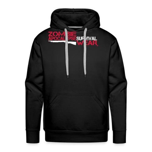 Z.A. Survival Wear Logo Brand Hoodie - black - Männer Premium Hoodie