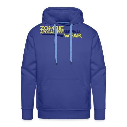 Z.A. Survival Wear Logo Brand Hoodie - blue - Männer Premium Hoodie