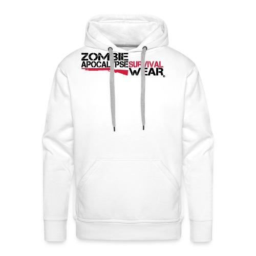 Z.A. Survival Wear Logo Brand Hoodie - white - Männer Premium Hoodie