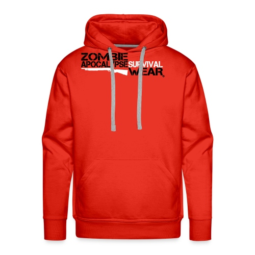 Z.A. Survival Wear Logo Brand Hoodie - red - Männer Premium Hoodie