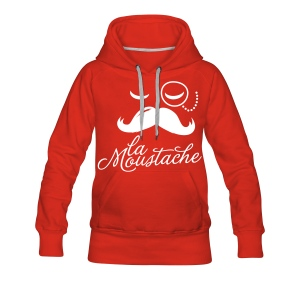 La moustache Sweater Girls. - Vrouwen Premium hoodie