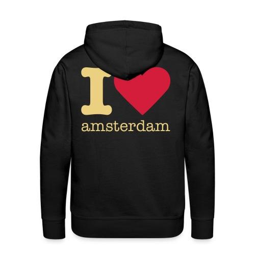 I 'love' Amsterdam - Mannen Premium hoodie
