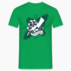 Kelly green power  blitz tattoo T-Shirts T-Shirts