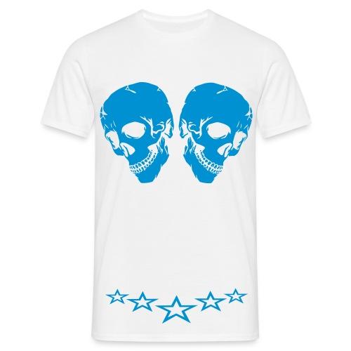 T- skjorte skull `N`stars - T-skjorte for menn