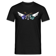 T-Shirts ~ Men's T-Shirt ~ JSH Logo #1-w +Guitars