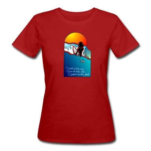 Sonnenbrand° Lsf 6 Tee *Sunset Deerns choose your favourite colour - Frauen Bio-T-Shirt
