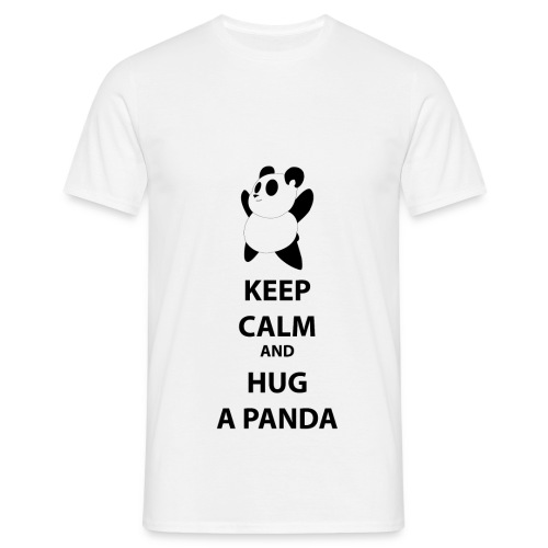 T-shirt Keep calm and hug a panda-Maglietta keep calm and hug a panda - Maglietta da uomo