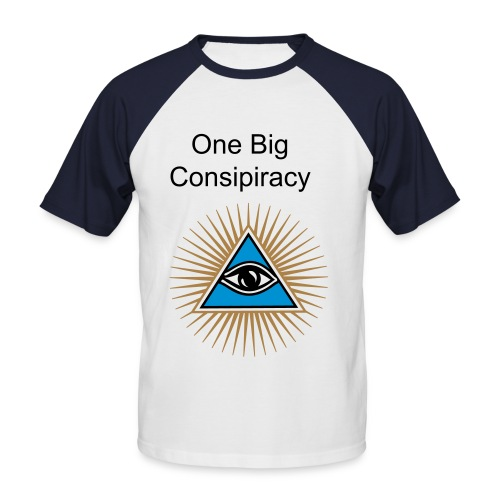 One Big Conspiracy Illuminati tshirt - Men's Baseball T-Shirt
