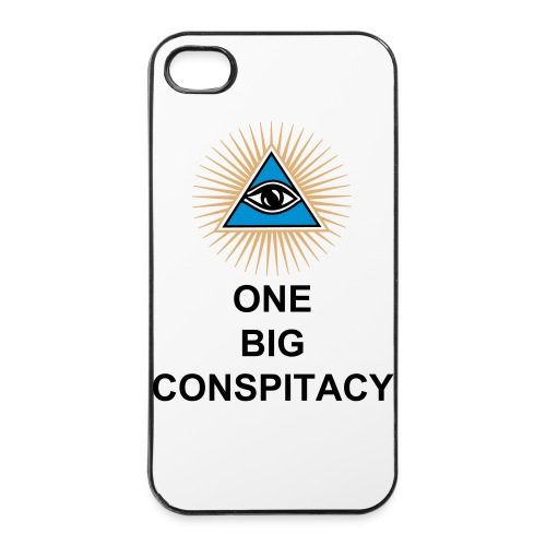 One Big Conspiracy Illuminati iPhone 4S case - iPhone 4/4s Hard Case