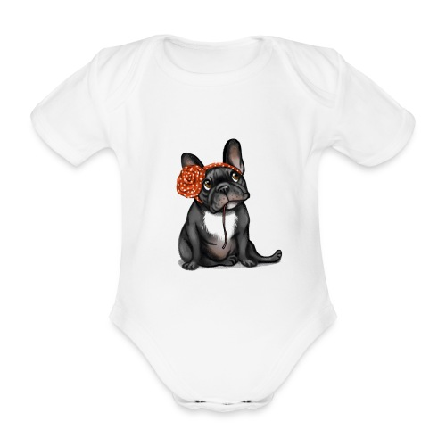 Body bébé bio manches courtes - top,tee-shirt,naissance,mode,haut,garçon,french,français,fille,femme,enfant,cadeau,bébé,bulldog,bouledogue,body