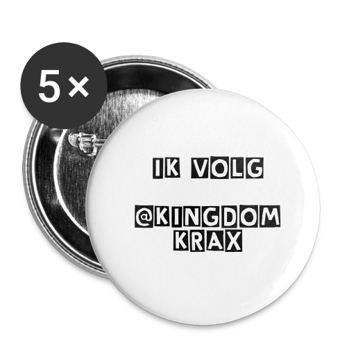 I Follow @KingdomKrax Buttons! (Groot)  ( 5 Pack ) - Buttons groot 56 mm