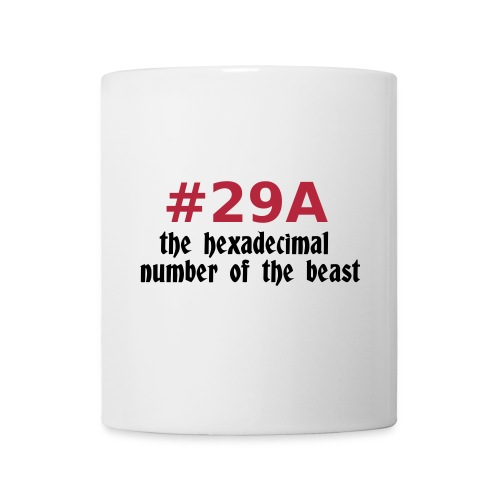 number of the beast novelty mug - Mug