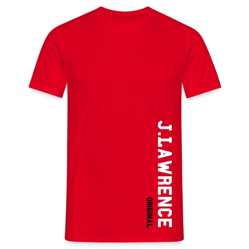 Red J.Lawrence Simple Tee - Men's T-Shirt