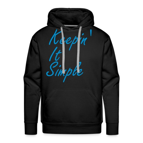 Men's Premium Hoodie - Keepin' It Simple brand on the front. Glow in the dark motif on the back and the left of the hood.