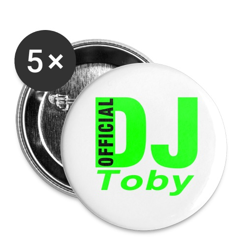 DJ-Toby button - Buttons large 2.2''/56 mm(5-pack)