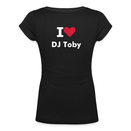 I love DJ-Toby - Women's Scoop Neck T-Shirt