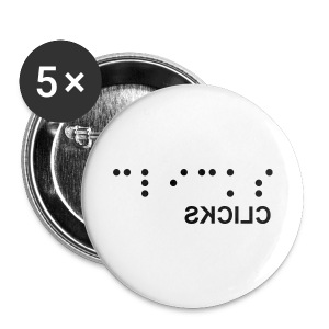 CLICKS Button Blinded - Buttons klein 25 mm