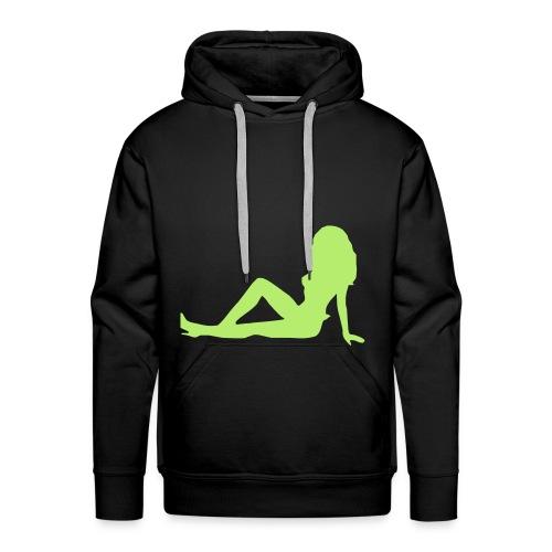 Mannensweater naakte vrouw - Mannen Premium hoodie