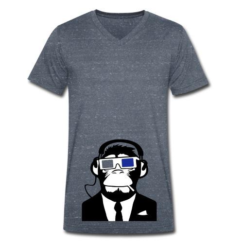 Affen3D - Männer Bio-T-Shirt mit V-Ausschnitt von Stanley & Stella