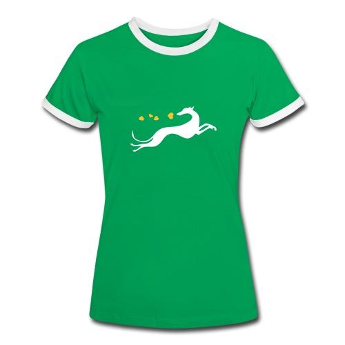 Lévrier semeur de cœurs  - T-shirt contrasté Femme