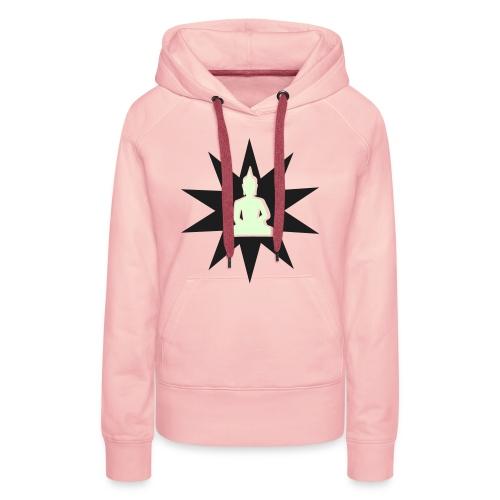 Buddha hoodie glow in the dark - Sweat-shirt à capuche Premium pour femmes