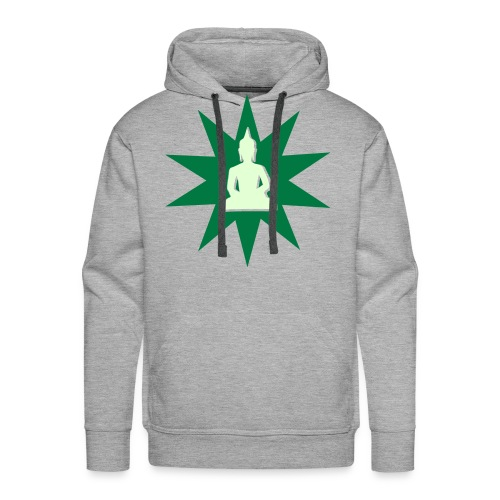 Buddha hoodie green phospho - Sweat-shirt à capuche Premium pour hommes