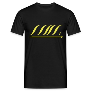 WingBeat-Yellow - Men's T-Shirt