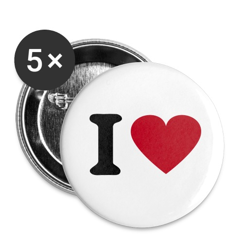 Badge I love - Badge petit 25 mm