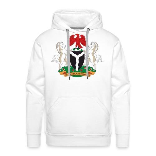 Naija COA in white hoodie - Men's Premium Hoodie