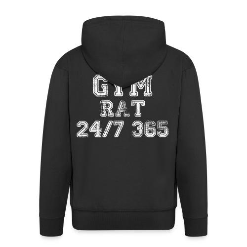Männer Premium Kapuzenjacke - Gym Rat 24/7 365