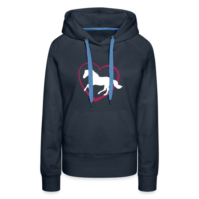 Galloping Horse with Heart Hoodie