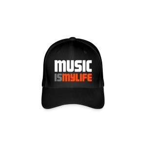 Music Is My Life - Basecap - Flexfit Baseballkappe