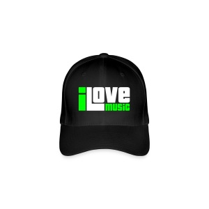 I Love Music - Basecap - Flexfit Baseball Cap