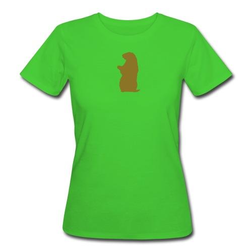 Murmeltier Flex Gold - Frauen Bio-T-Shirt
