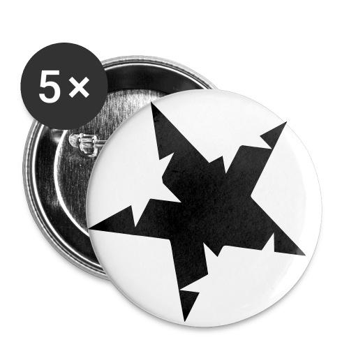 Paquete de 5 chapas pequeñas (25 mm)