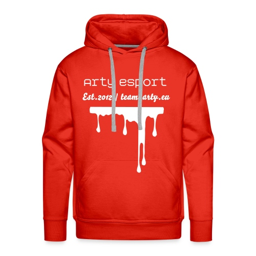 Arty Sweater Red - Men's Premium Hoodie