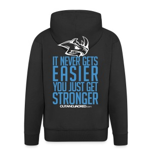 Hooded zipper jacket | You just get stronger - Men's Premium Hooded Jacket